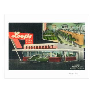 Cartão Postal Vista exterior do RestaurantVentura do laço, CA