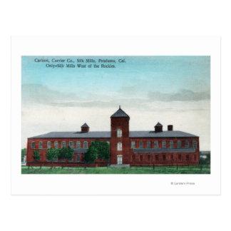 Cartão Postal Vista exterior dos moinhos da seda do Co do