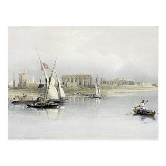Cartão Postal Vista geral das ruínas de Luxor do Nile,