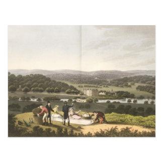 Cartão Postal Vista geral de Longleat do monte da perspectiva, f