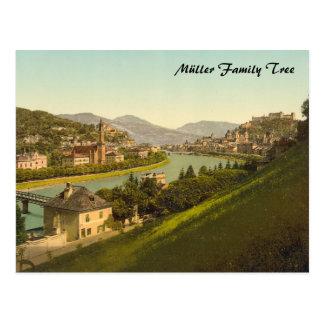Cartão Postal Vista geral de Salzburg, Áustria