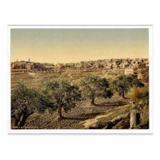 Cartão Postal Vista geral do bem de David, Bethlehem, santamente