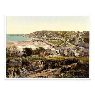 Cartão Postal Vista geral, Mumbles, Wales Photochrom raro