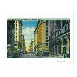 Cartão Postal Vista ocidental da 7a rua da rua do primavera