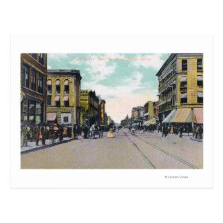 Cartão Postal Vista ocidental de StreetBoise principal,