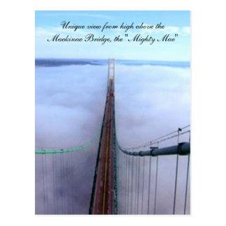 Cartão Postal Vista original de cima da ponte de Mackinac