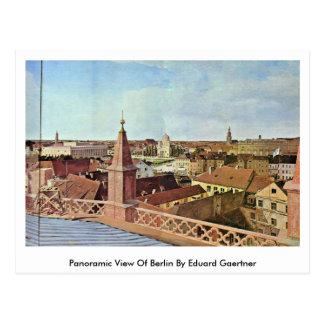 Cartão Postal Vista panorâmica de Berlim por Eduard Gaertner