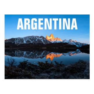 Cartão Postal Vista panorâmica do lago Capri, Patagonia