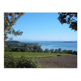 Cartão Postal Vista panorâmica sobre o lago Constance