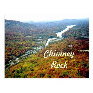 Cartão Postal Vista para baixo da rocha da chaminé