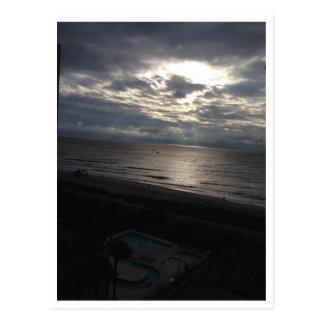 Cartão Postal Vista para o mar da noite