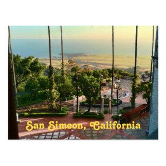 Cartão Postal Vista para o mar de San Simeon