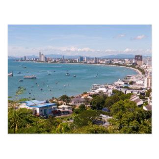 Cartão Postal Vista sobre a baía de Pattaya