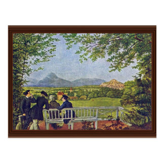 Cartão Postal Vistas de Salzburg por Julius Schnorr Von