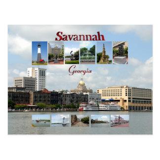 Cartão Postal Vistas do savana Geórgia