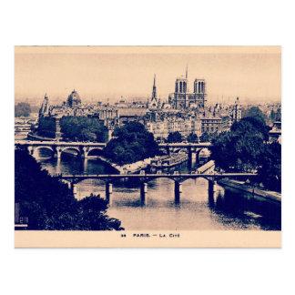 Cartão Postal Vistas do vintage de Paris