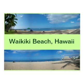 Cartão Postal Vistas panorâmicas da praia Havaí de Waikiki