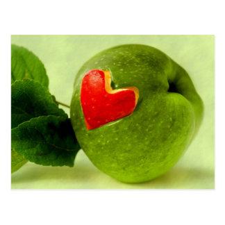 Cartão Postal Vitaminas com coração