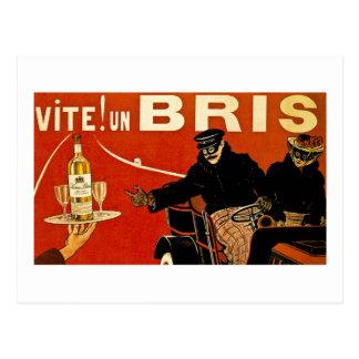 Cartão Postal Vite! Brie do Un - anúncio do francês do vintage