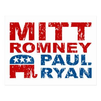 Cartão Postal Vitória do voto do funcionamento de Romney Ryan