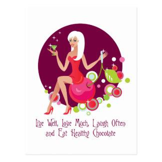 Cartão Postal Viva bem, ame muito