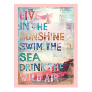 Cartão Postal Viva na luz do sol