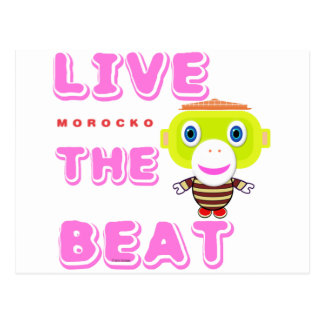 Cartão Postal Vive o Macaco-Morocko Batida-Bonito