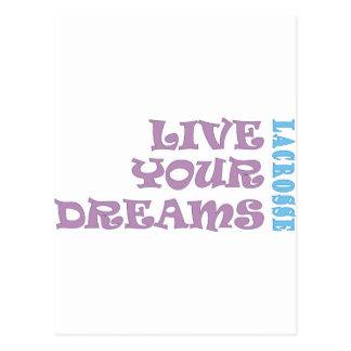 Cartão Postal Vivem seus sonhos do Lacrosse