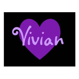 Cartão Postal Vivian no roxo