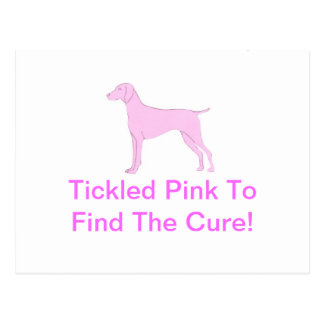 Cartão Postal Vizsla cor-de-rosa