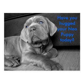 Cartão Postal Você abraçou seu filhote de cachorro neo hoje?