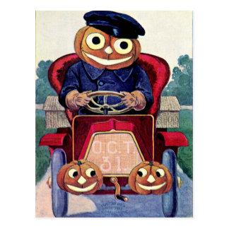 Cartão Postal Você automóvel tem um Dia das Bruxas feliz