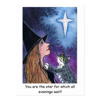 Cartão Postal Você é a estrela para que todas as noites w…