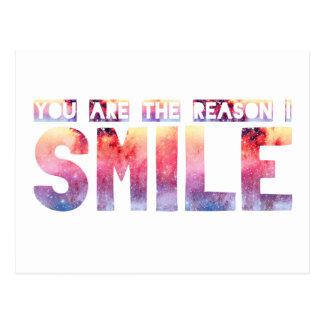Cartão Postal Você é a razão que eu sorrio