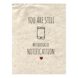 Cartão Postal Você é ainda minha notificação favorita