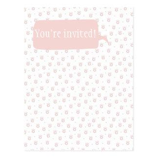 Cartão Postal Você é convidado! Patas bonitos do animal de