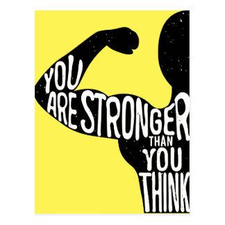 Cartão Postal Você é mais forte do que você pensa