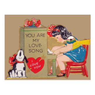Cartão Postal Você é minha canção de amor