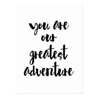 Cartão Postal Você é nossas grandes citações da aventura