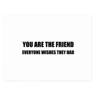 Cartão Postal Você é o amigo