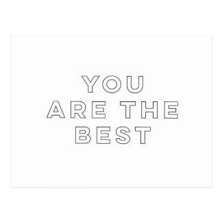 Cartão Postal Você é o melhor