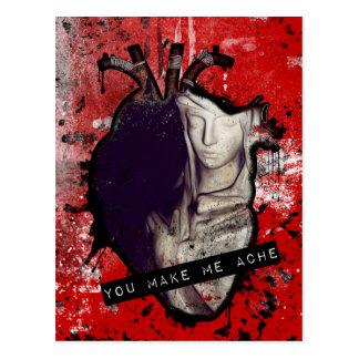Cartão Postal você faz-me dmoer coração anatômico