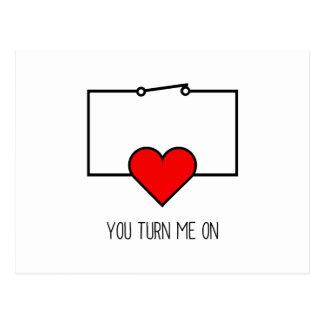 Cartão Postal Você gira-me sobre