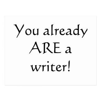 Cartão Postal Você já é um escritor!