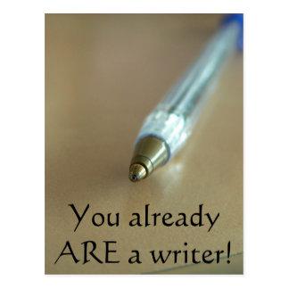 Cartão Postal Você já É um escritor! (com caneta)