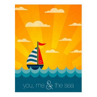 Cartão Postal Você mim & o mar