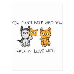 Cartão Postal Você não pode ajudar quem você cai no amor com