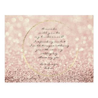 Cartão Postal Você será meu brilho cor-de-rosa do ouro do Sepia