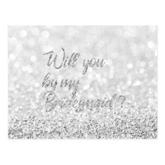 Cartão Postal Você será meu brilho da prata do roteiro da dama