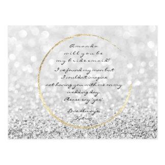 Cartão Postal Você será meu brilho do ouro das cinzas de prata